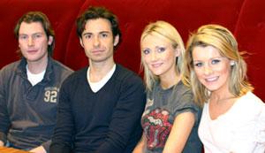 写真右から順にMalissaさん、Nicolaさん、PadraicさんにRyanさん。